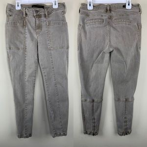 Liverpool Jeans tan cargo crops, 4 / 27